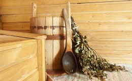 interior of sauna